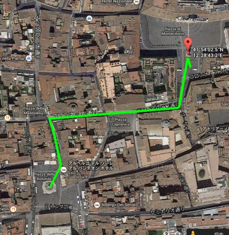 From the Pantheon to Piazza di Montecitorio