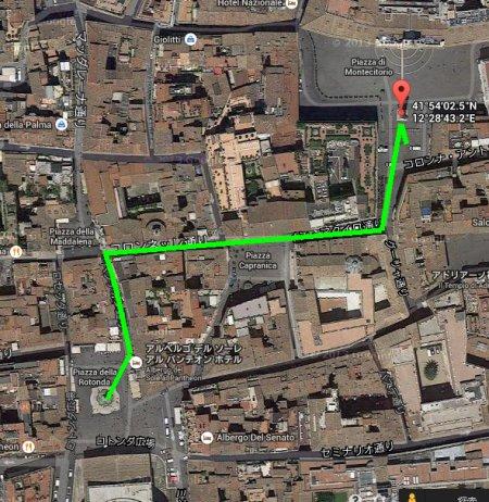 パンテオン前からモンテチトーリオ広場へ