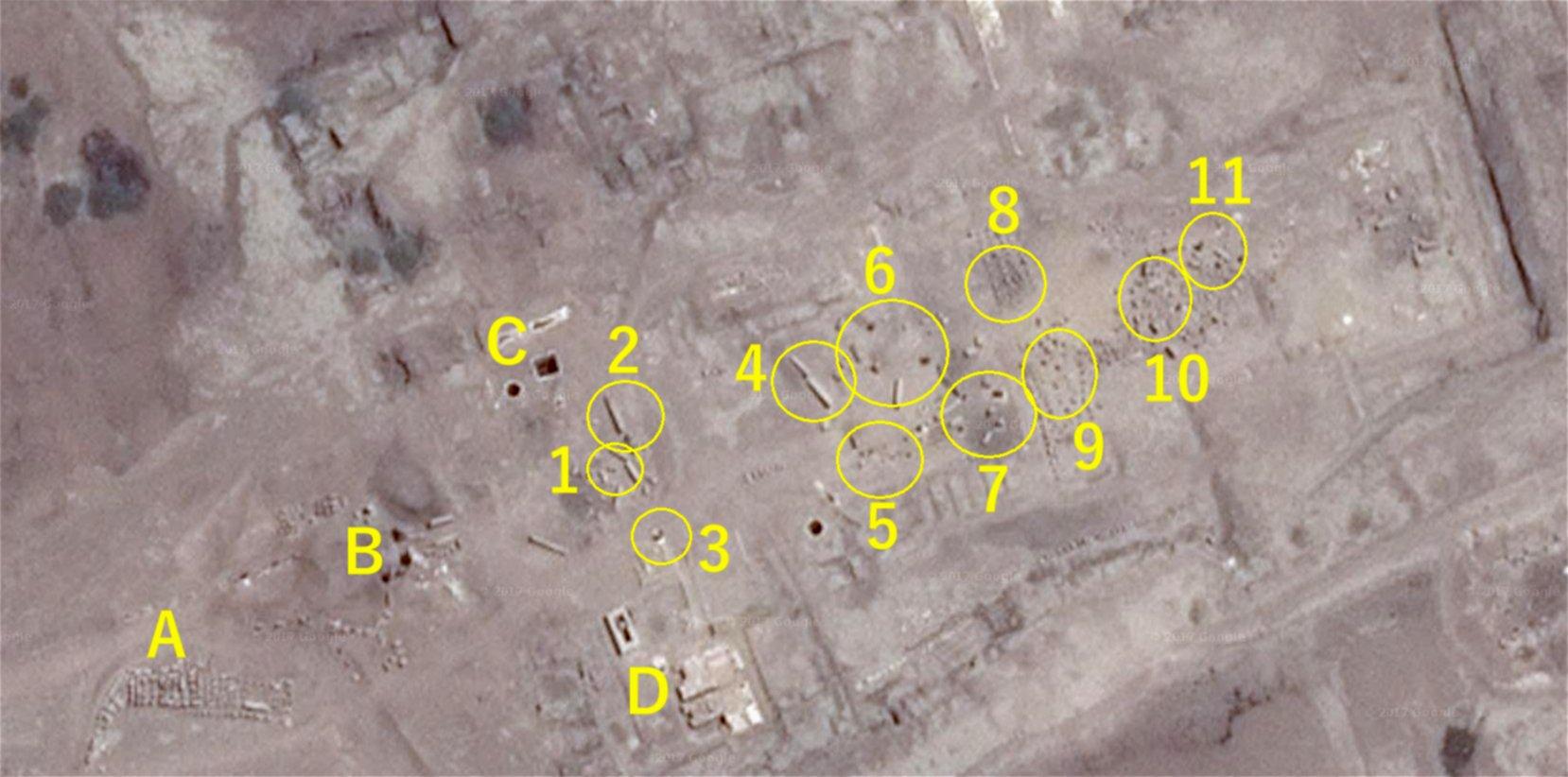 アメン神殿の衛星写真
