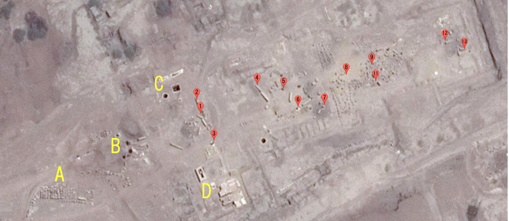satellite picture of Amun Temple