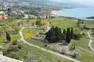 十字軍の城砦から見た古代遺跡群の一部(南側)