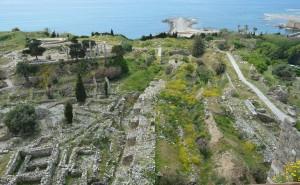 十字軍の城砦から見た古代遺跡群の一部(西側)