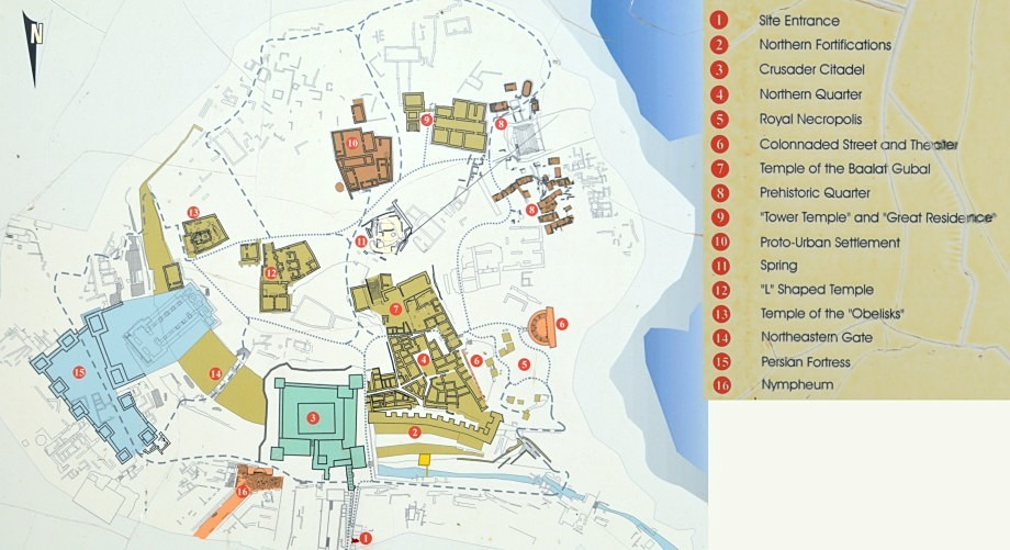 Illustrate Map of the Ancient Ruins