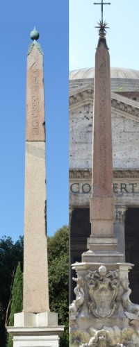 Comparison with the pair of Obelisks