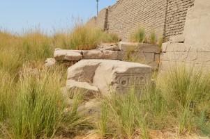 ラムセス2世のオベリスクの台座(?)(南側)