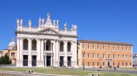 The Basilica di San Giovanni and the Lateran Palace