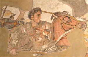 アレキサンダー大王を描いたモザイク画