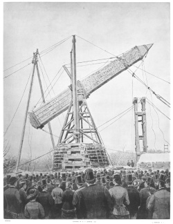 Re-erection of the obelisk in New York