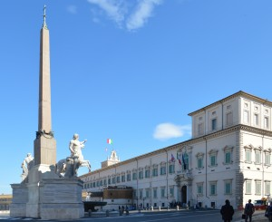 The Quirinale Palace and the obelisk