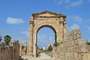 Triumphal arch at the entrance of hippodrome site