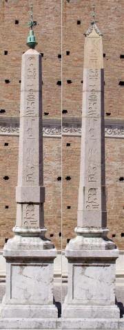 ウルビーノのオベリスクの復元想像図